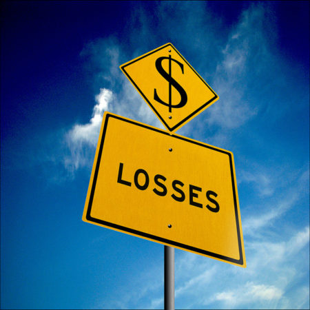 Dollar sign above and 'Losses' on sign below.