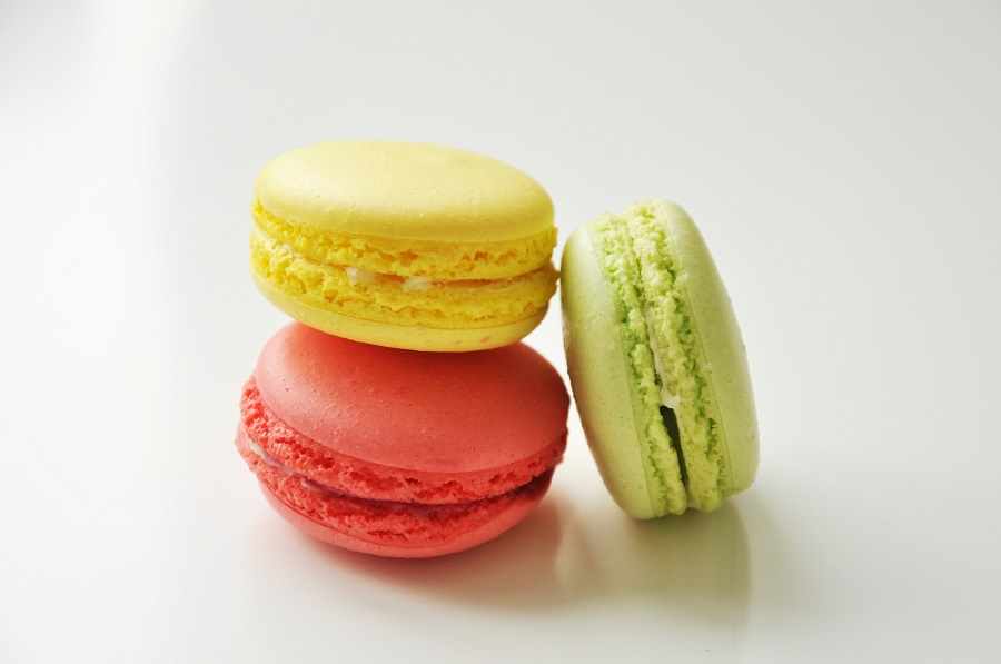 Image: three macarons